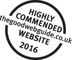 Highly Commended logo for Good Web Guide Awards 2016