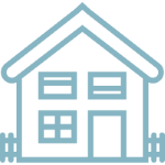 Light blue house logo