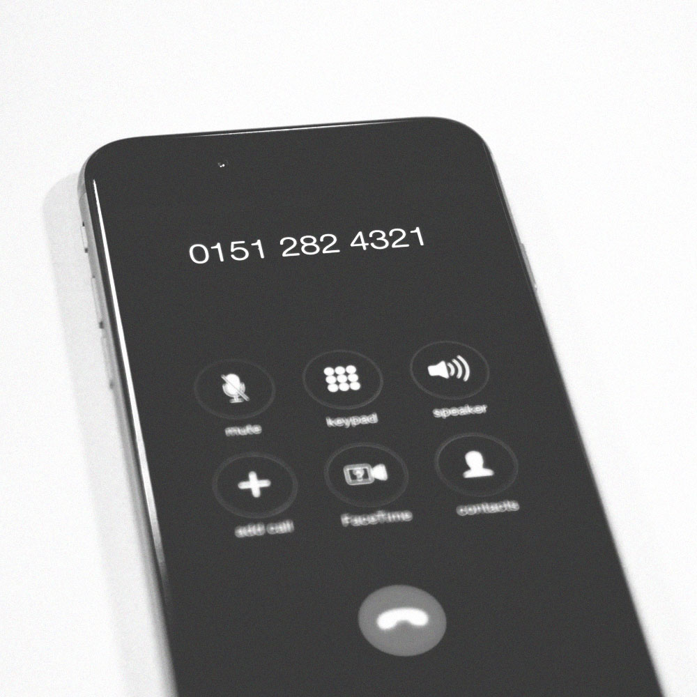 An iPhone displaying Connect's contact number