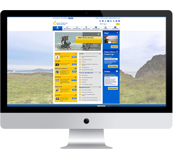 The Wales Coast Path website on desktop