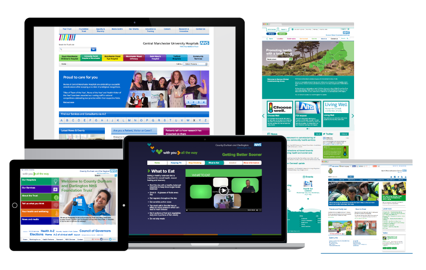 Selection of NHS websites