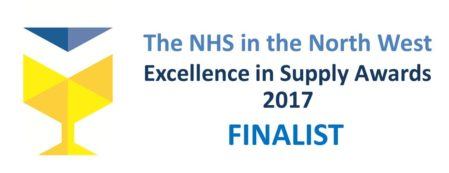 NHS North West: Excellence in Supply 2017 Awards Finalist Logo