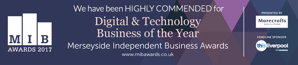 We have been HIGHLY COMMENDED for Digital & Technology Business of the Year in the MIB Awards 2017
