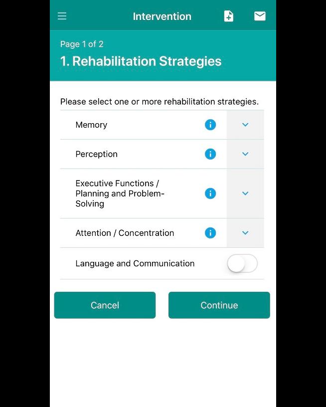 Cognitive Rehabilitation in Dementia app screenshot