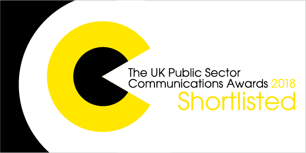 UK Public Sector Communications Awards 2018 Shortlisted logo