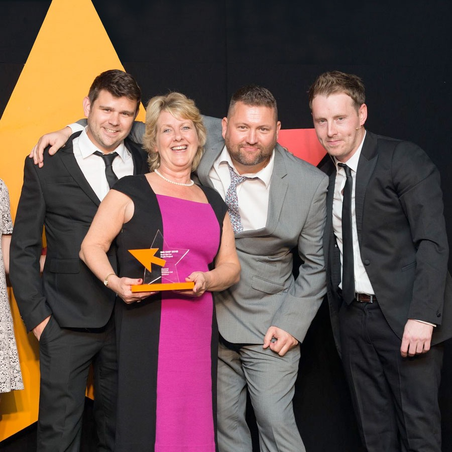 Andy, Carole and Dave at the Big Chip Awards 2015
