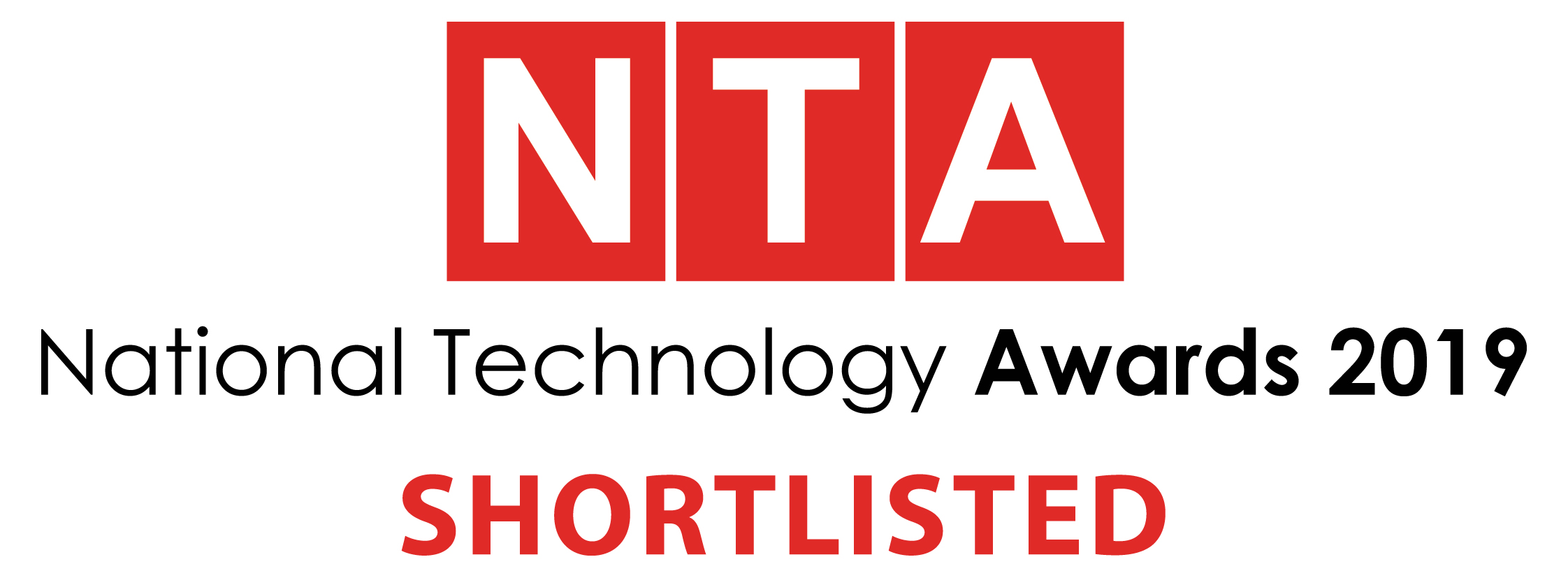 National Technology Awards 2019 shortlisted logo