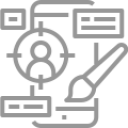 Greyscale icon of paper contract