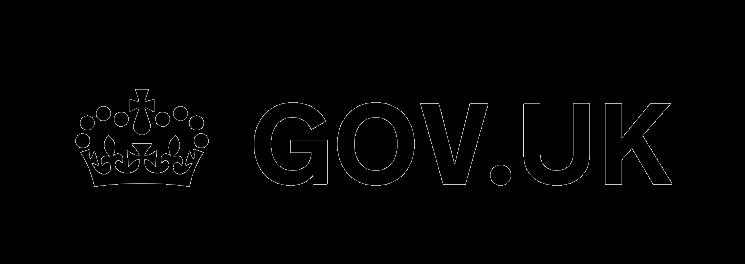 Black GOV.UK logo on transparent background