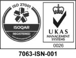 ISO27001 Accrediation - Certification number 7063-ISN-001